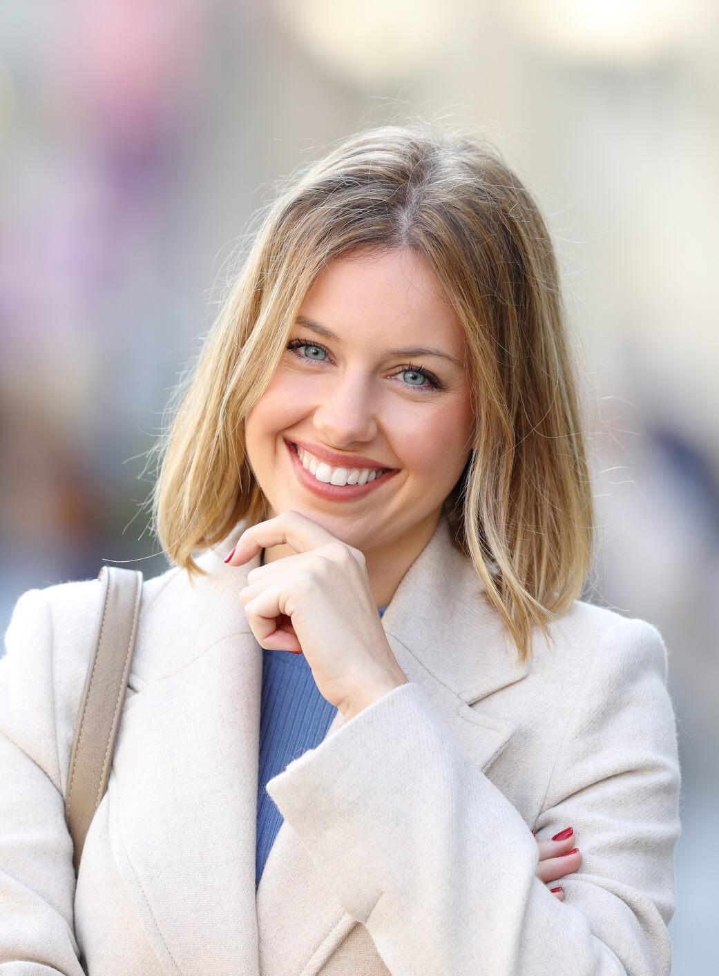 Smile Design, professional woman smiling