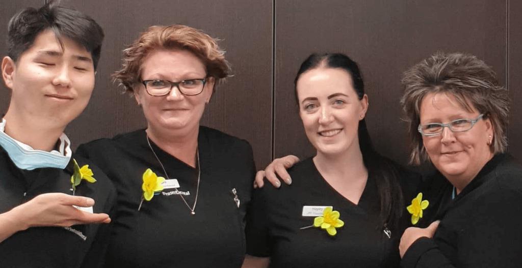 Fraser Dental staff, Daffodil Day