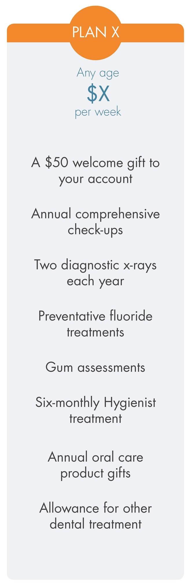 Smilesaver dental savings plan X
